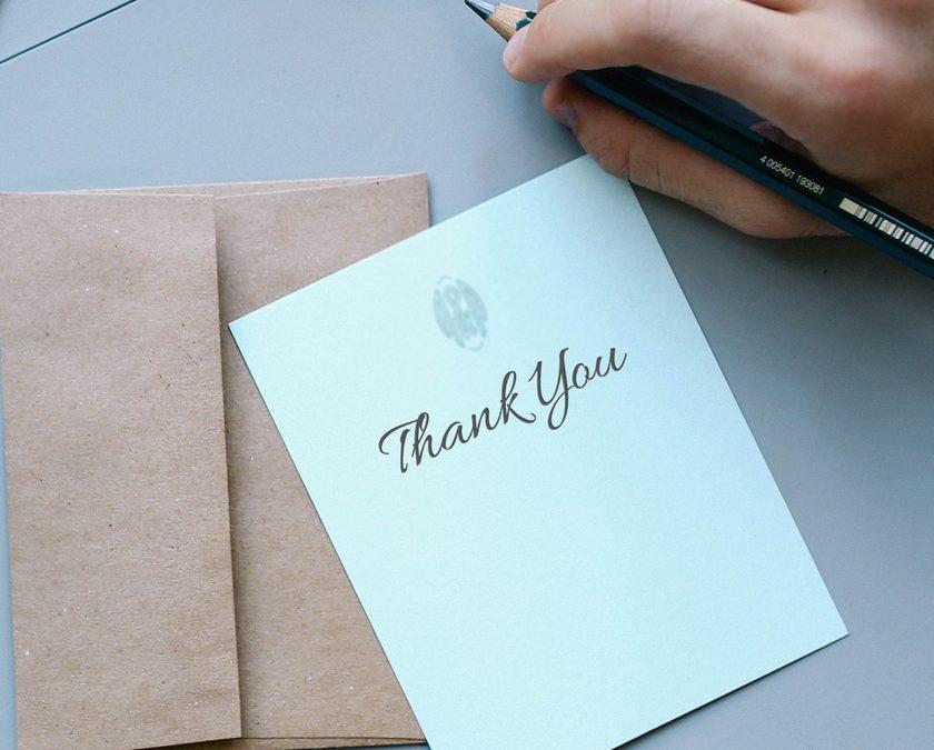 Exercice de gratitude et dire merci